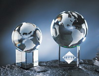 Globe with Rainbow Base