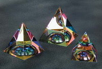 Rainbow Pyramid with Dome