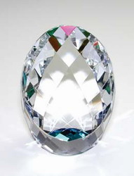 Rainbow Faceted Egg