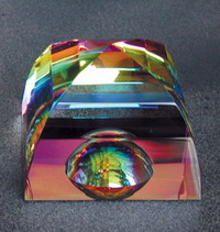 Rainbow Mystic Pyramid with Dome
